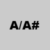 3. A/A#